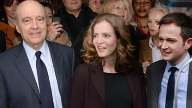 Alain Juppé est venu soutenir NKM à Paris.