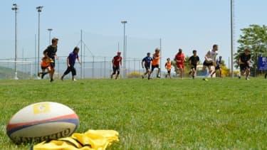 Session d'entraînement au club de rugby athénien des Attica Springboks