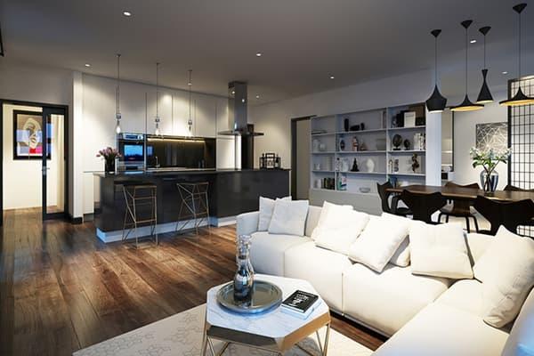 Un des appartements proposés par Galliard Homes dans le cadre d'un programme immobilier.