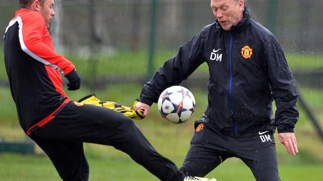 Wayne Rooney et David Moyes