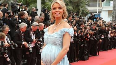 Sylvie Tellier, enceinte, au Festival de Cannes en mai 2018