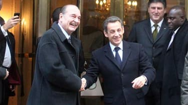 Jacques Chirac et Nicolas Sarkozy