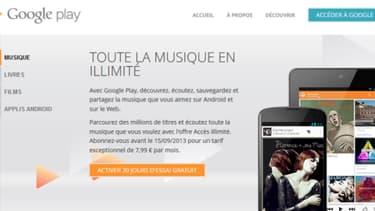 Google lance en France son site d'écoute de musique en streaming.