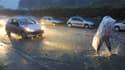 Rue inondée dans le centre de Montpellier