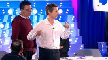 """François Ruffin sur le plateau de l'émission """"On n'est pas couché"""", le 14 avril 2018"""