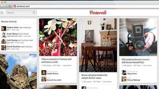 Pinterest n'a pas encore de publicité sur son site.
