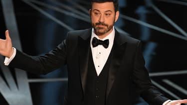 Jimmy Kimmel sur la scène de la 89e cérémonie des Oscars, le 26 février 2017