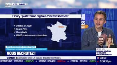 On recrute ! Finary : plateforme digitale d'investissement