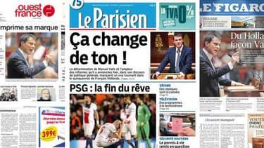 La presse semble aujourd'hui plutôt convaincu par le discours de Manuel Valls à l'assemblée.