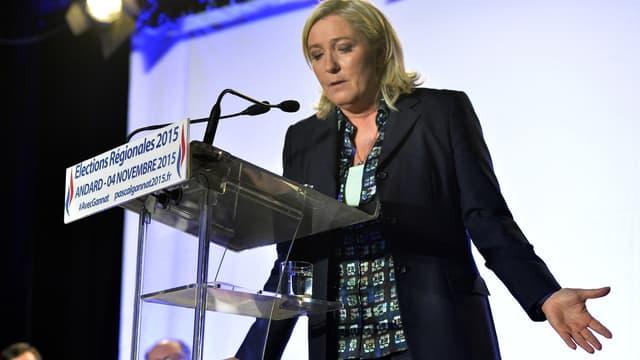 Marine le Pen en déplacement