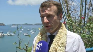 Emmanuel Macron le 22 octobre sur l'île de Mayotte