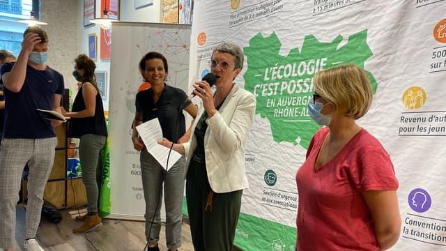 Najat Vallaud-Belkacem, Fabienne Grébert, Cécile Cuckierman.