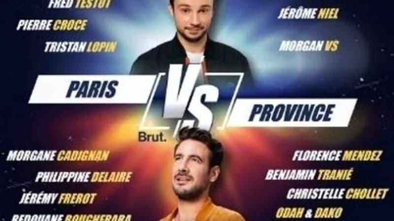 """""""Paris vs Province"""", match d'humour en live streaming ce jeudi soir"""