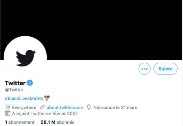 Compte officiel de Twitter