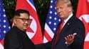 Kim Jong Un et Donald Trump lors du tête à tête historique