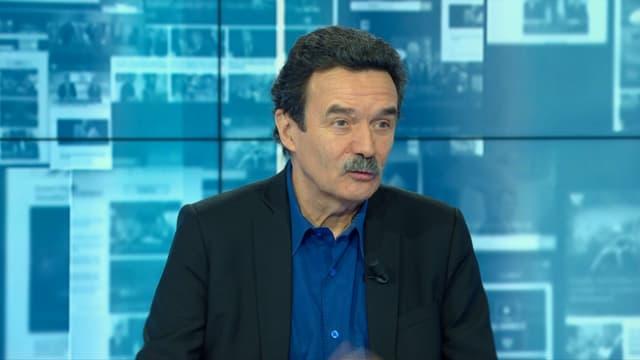 Edwy Plenel sur le plateau de BFMTV