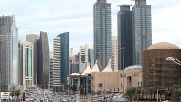 Des gratte-ciels de Doha, le 24 novembre 2015