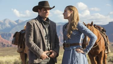 James Marsden et Evan Rachel Wood dans Westworld