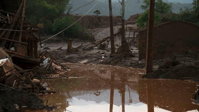 Le village de Bento Rodrigues a été dévasté.