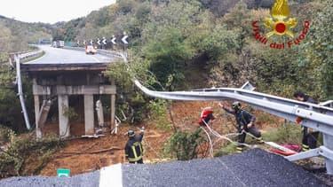 Un viaduc effondré près de Savone en Italie, le 24 novembre 2019