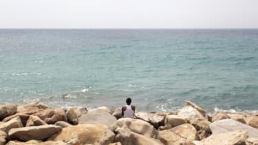Un migrant à la frontière franco-italienne, le 13 juin 2015