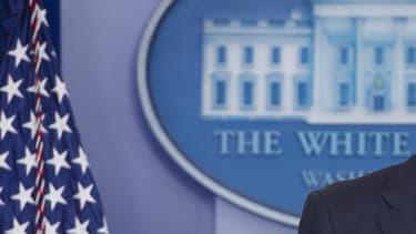 Barack Obama donne une conférence à la Maison Blanche, le 14 novembre 2016.