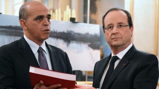 François Hollande et Kader Arif