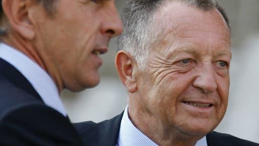 Jean-Michel Aulas et Claude Puel, futur ex entraîneur de l'OL.