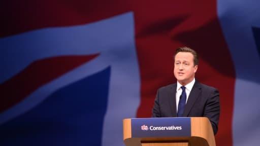 Le Premier ministre britannique David Cameron lors du Congrès annuel des conservateurs, le 7 octobre 2015 à Manchester