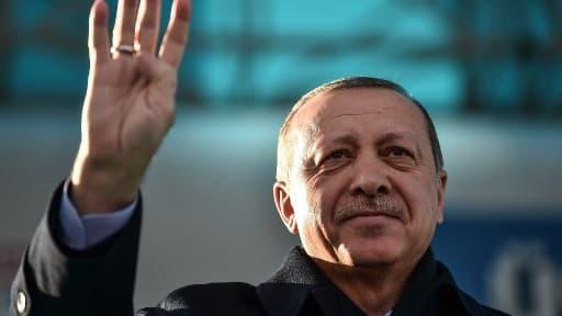 Le président turc Recep Tayip Erdogan le 15 décembre 2017