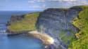 Le Cliff of Moher, en Irlande, une falaise où i lfait bon respirer l'air marin.
