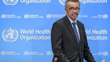 Tedros Adhanom Ghebreyesus, patron de l'OMS. - Fabrice COFFRINI / AFP