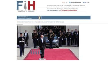 François Hollande porte-t-il davantage sa cravate de travers que d'autres personnalités? Rien ne permet de le dire mais le nombre de photos accumulées sur ce site est impressionnant.