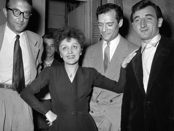 Edith Piaf et Charles Aznavour
