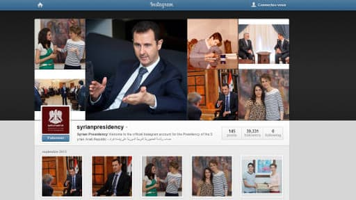 Bacha al-Assad a ouvert un compte Instagram fin juillet 2013.