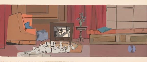 Concept Art de Walt Peregoy pour Les 101 Dalmatiens (1961)