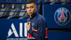 L'attaquant du Paris-SG, Kylian Mbappé, lors du match de Ligue 1 contre Monaco, au Parc des Princes, le 21 février 2021