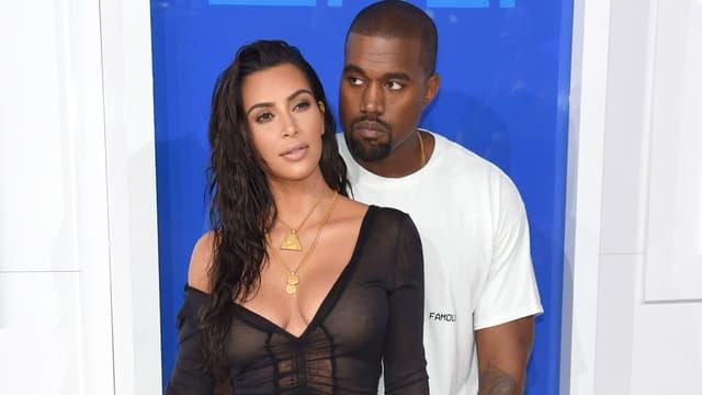 Kanye West et Kim Kardashian à New York en 2016