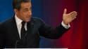 Nicolas Sarkozy, lors de son meeting.