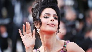 L'actrice indienne Mallika Sherawat au festival de Cannes en mai 2017.