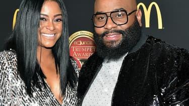 LaShawn Daniels et son épouse April, en janvier 2019 à Atlanta.