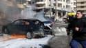 Un attentat a fait au moins trois morts à Beurouth, le 19 février 2014.