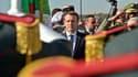 Emmanuel Macron à son arrivée à Alger le 6 décembre 2017.