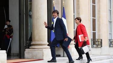 Nicolas Hulot, ministre de la Transition écologique et solidaire, arrive à l'Elysée avant le premier Conseil des ministres, le 18 mai 2017 à Paris.