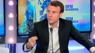 Emmanuel Macron était l'invité de l'émission Good Morning Business ce jeudi.