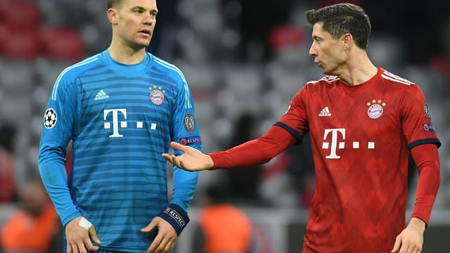 Robert Lewandowski et Manuel Neuer.