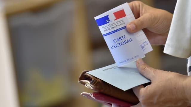 Image d'illustration d'une carte d'électeur.
