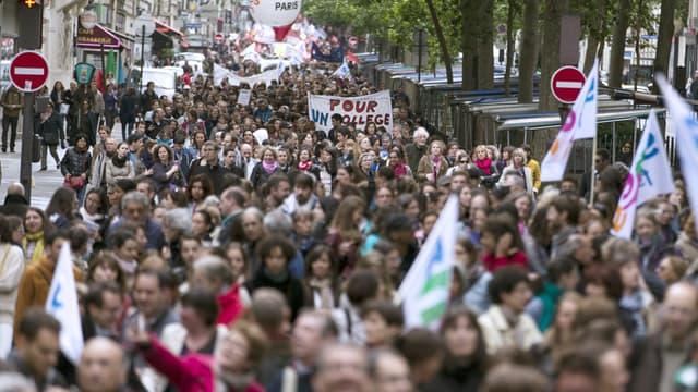 La mobilisation des enseignants contre la réforme du collège n'a pas atteint des sommets.