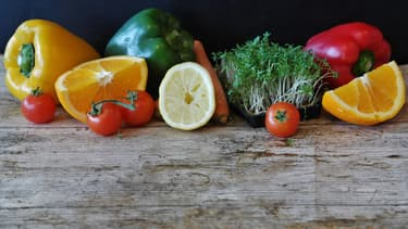 Des fruits et légumes - Image d'illustration
