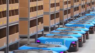 La société chinoise Alibaba a installé 60 robots dans un de ses entrepôts.